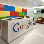 The colorful workplace of Google.