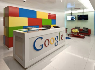 The colorful workspace of Google.